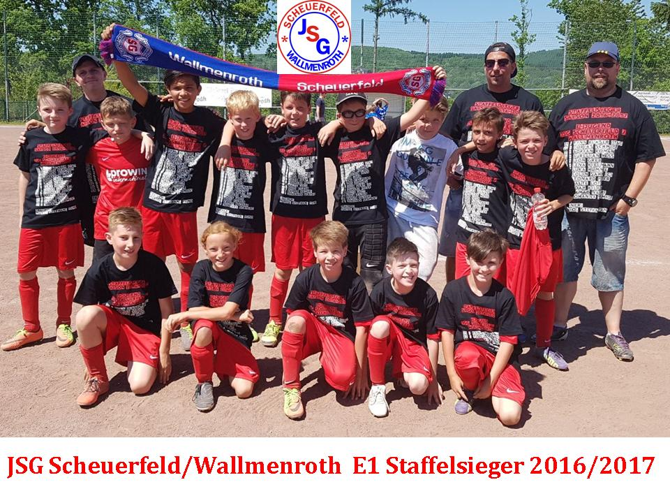 E1 JSG Scheuerfeld/Wallmenroth – Staffelsieger 2016/17