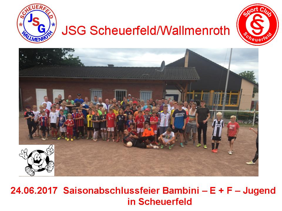 JSG Scheuerfeld/Wallmenroth – Saisonabschluss-Feier 2016/17