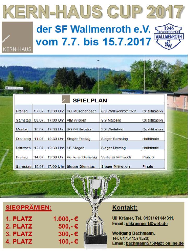 Kern Haus Cup 2017  vom 07.07-15.07.2017