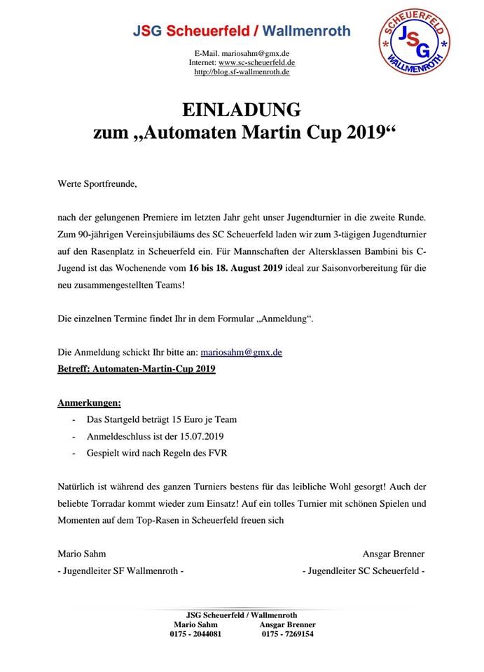 2. Automaten Martin Cup